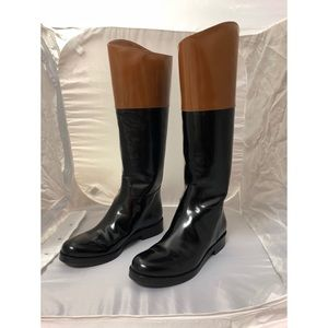 Michael Kors Black/brown leather boots